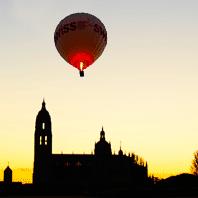 vuelo nocturno en globo Segovia