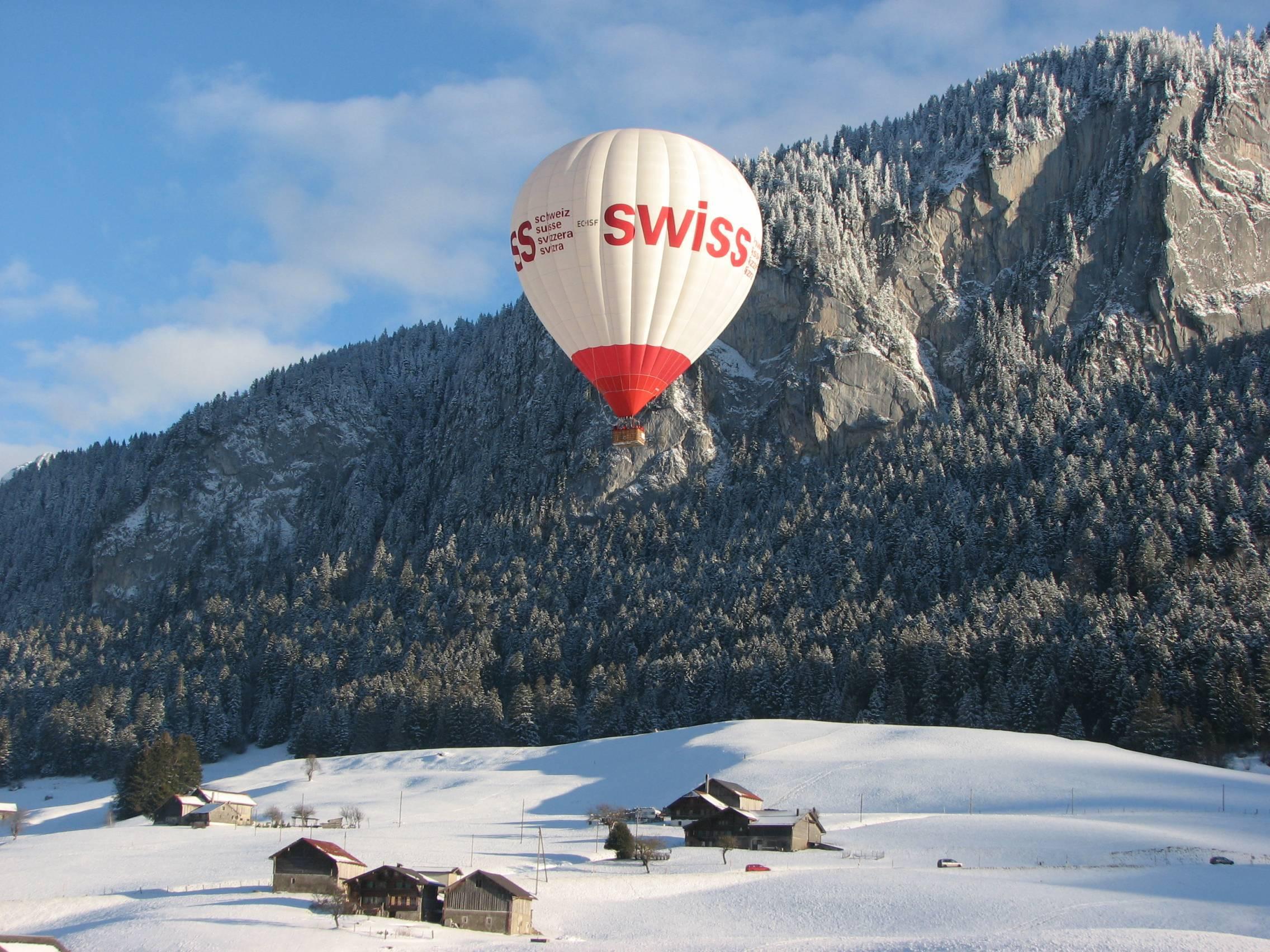 Volar en globo en invierno