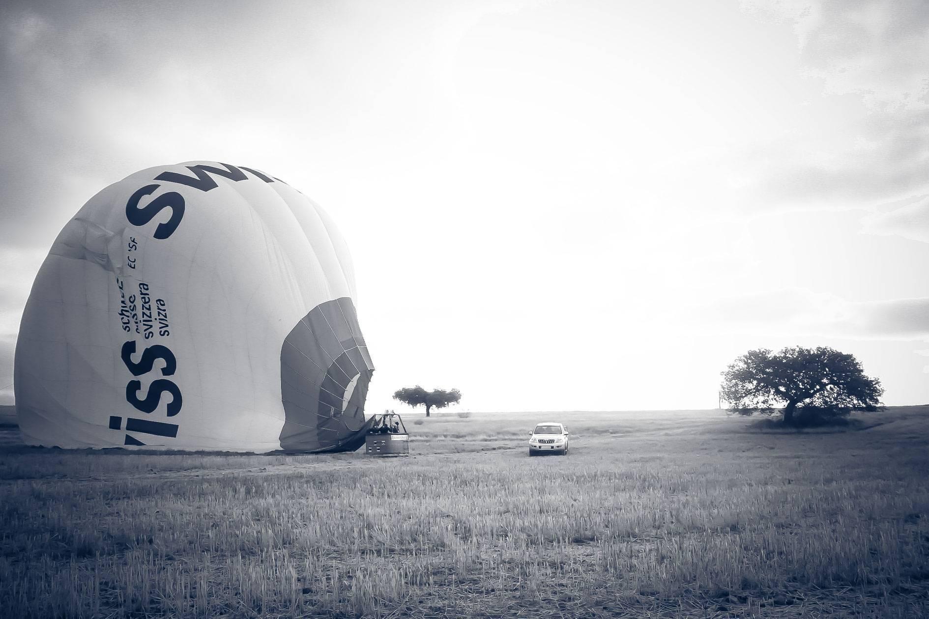 Selección del campo de aterrizaje de un globo