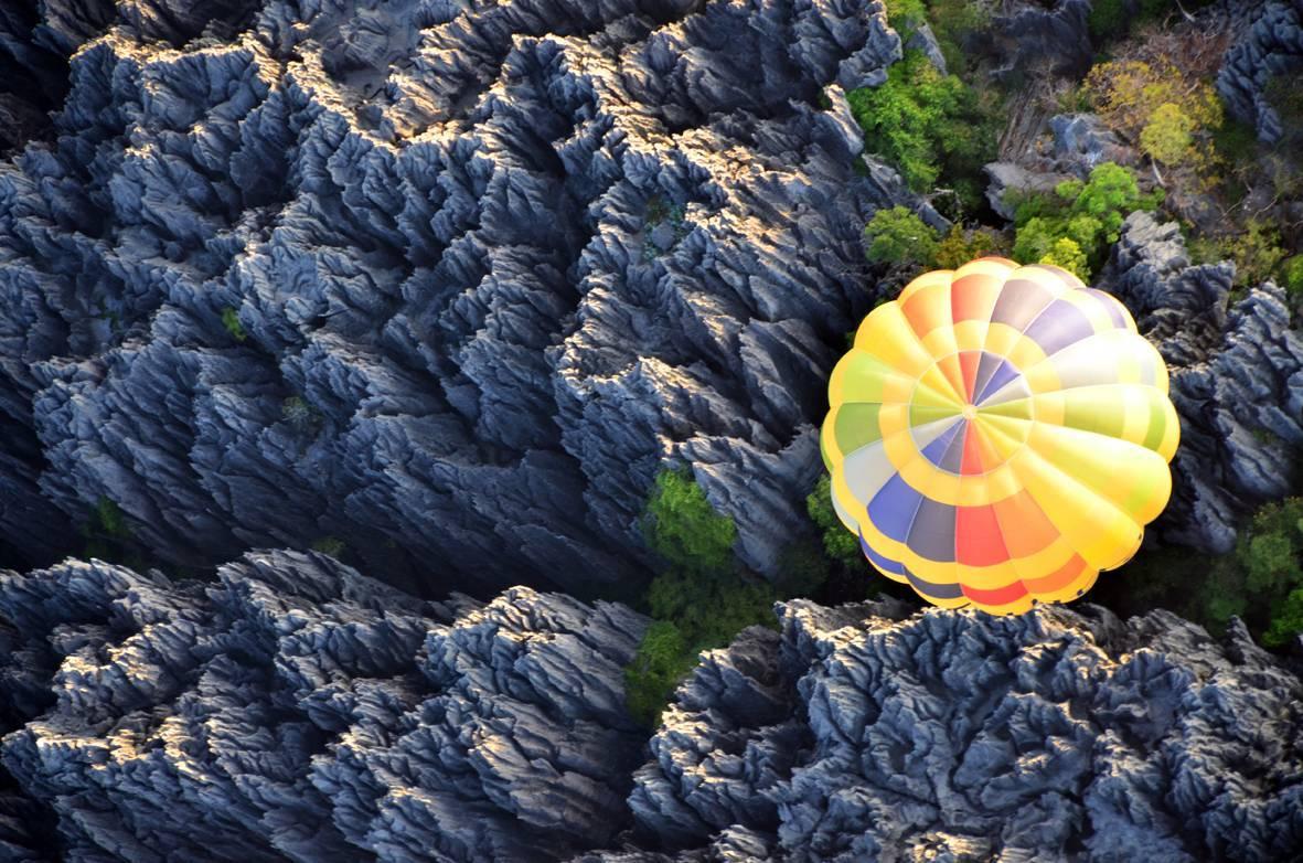 El Gran Tsingy desde el globo.