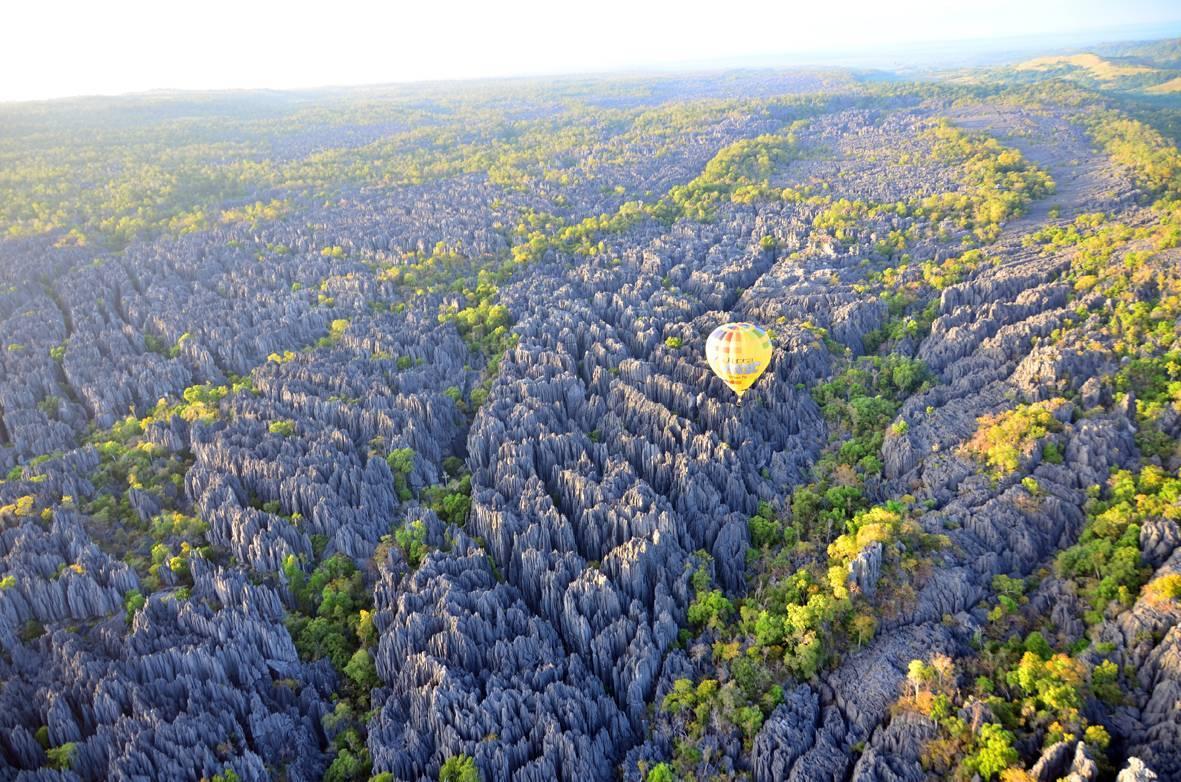 Desde arriba podemos comprender el tamaño del gran Tsingy.