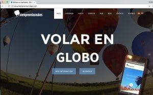 Web de vuelos en globo de Siempre en las nubes