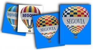 Bocetos globo aerostático publicitario