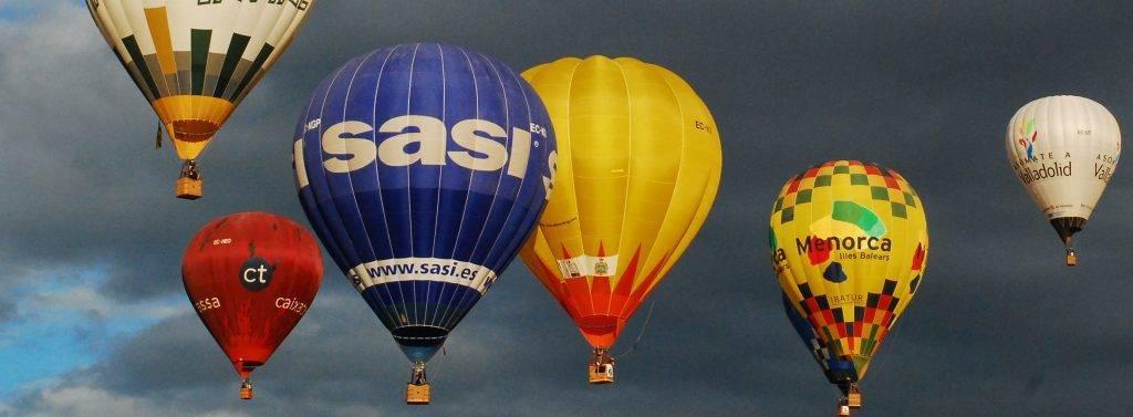 Publicidad con un globo