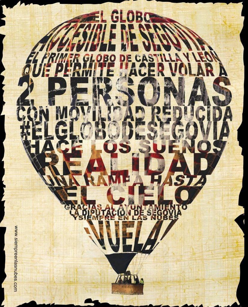 El primer globo accesible de Castilla y León