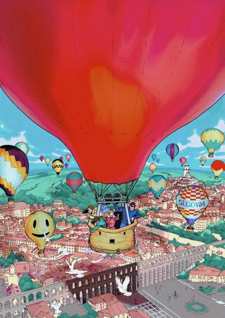Ilustración para el Festival Accesible de Globos de Segovia