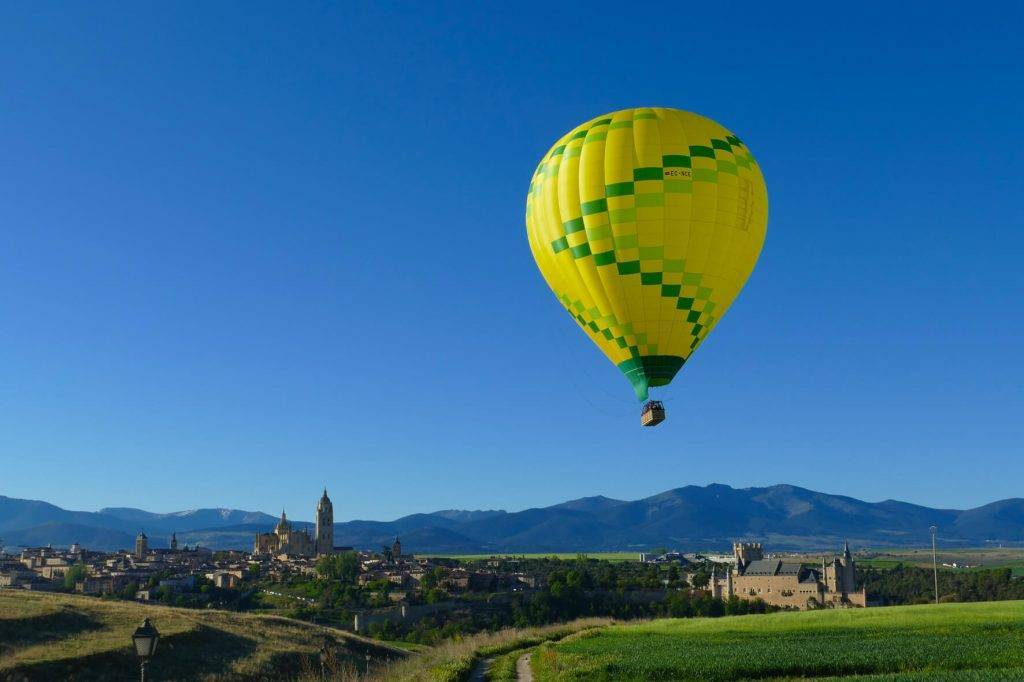 Paseo en globo cerca de Madrid