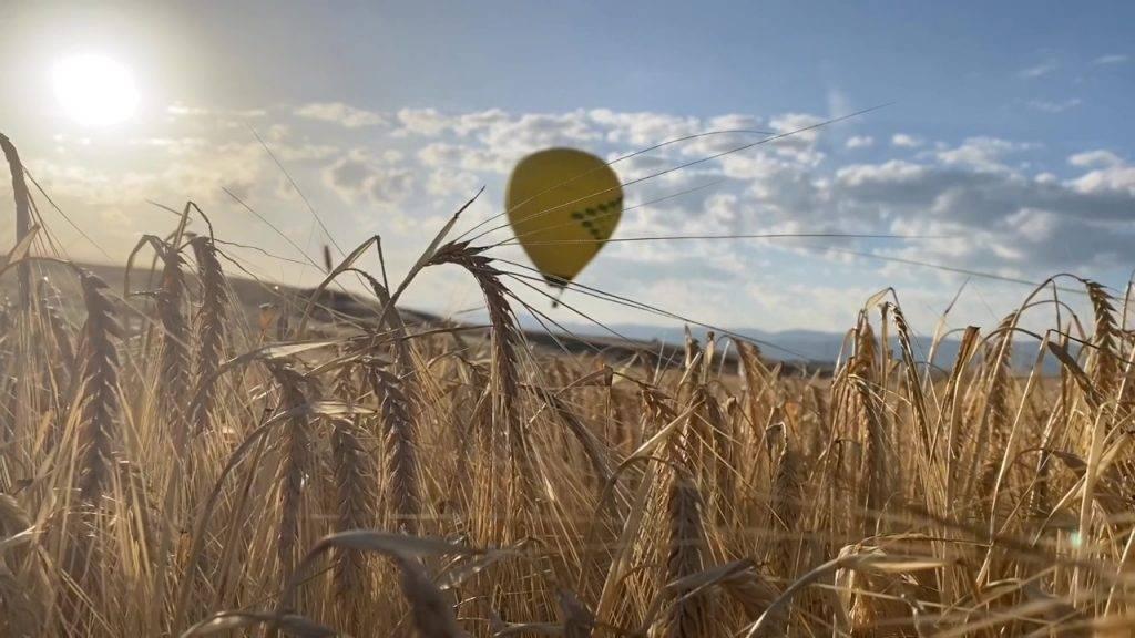 Homenaje en globo a los sanitarios en Segovia