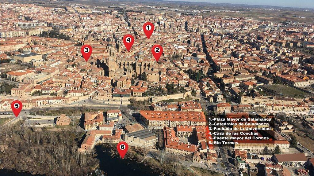 Salamanca desde un globo