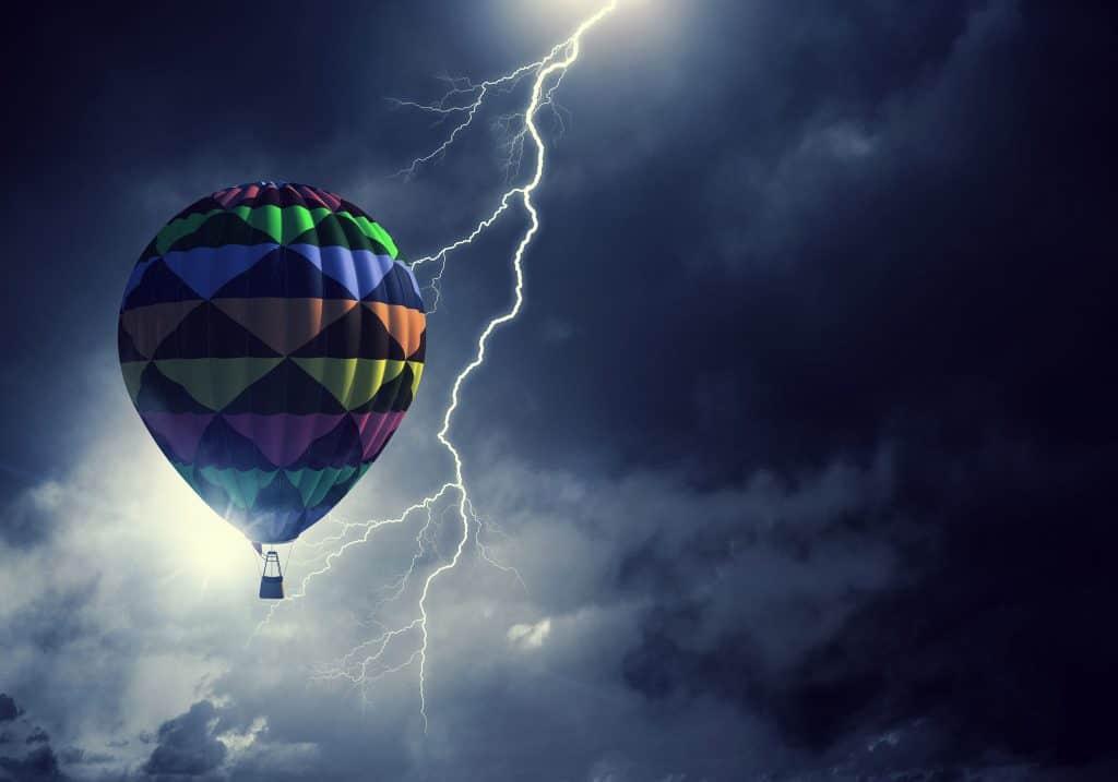 No se puede volar en globo cuando llueve