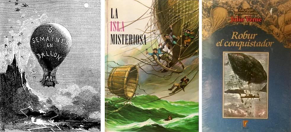 novelas de Julio Verne con globos