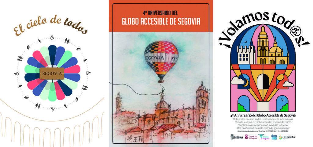 Ganadores del concurso de carteles del Globo Accesible. 1º,2º y 3º Clasificados