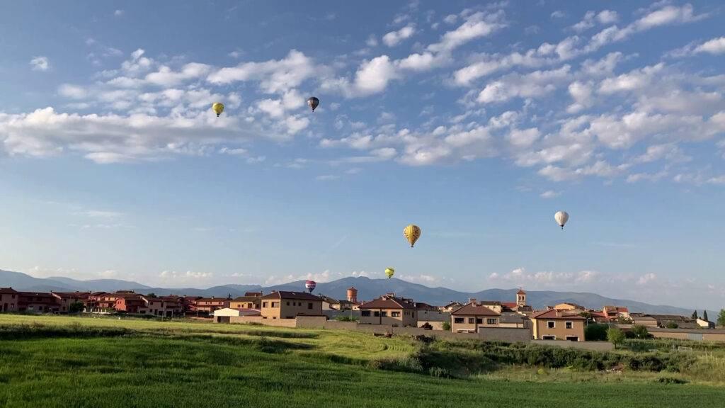 Volar en globo en Segovia 30-5-21